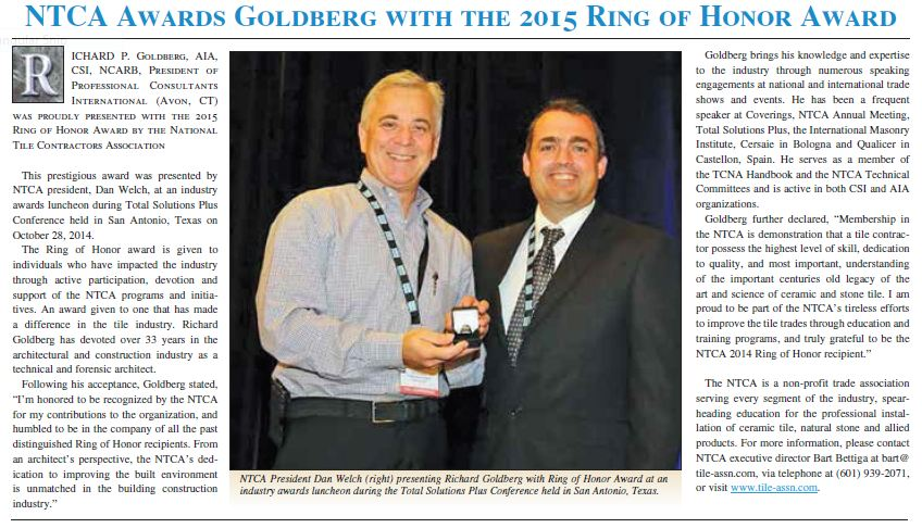 ntca 2014 ring of honor goldberg